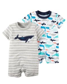 Baby Boy 2-Pack Rompers | Carters.com
