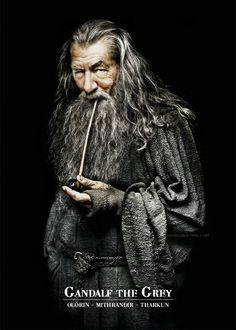 Gandalf the grey from the Lord of the Rings trilogy