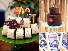 Super adorable camping theme baby shower