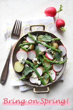 Chocolate Shavings: Spring Potato Salad with Radishes, Asparagus and Capers