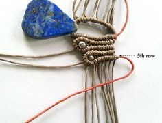 This pendant use only 2 basic knots, horizontal double half hitch for the butterfly wing and spiral stitch for ending, take only sh...