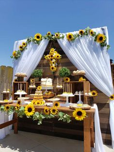 Sunflower Theme Communion Party Ideas (With Images within Sunflower Party Decorations Yellow Wedding, Summer Wedding, Dream Wedding, Wedding Day, Wedding Veil, Wedding Suits, Wedding Bridesmaids, Wedding Dresses, Beach Weddings