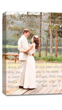 love this cute wedding keepsake idea: combine a photo from your wedding day with a heartfelt love letter.