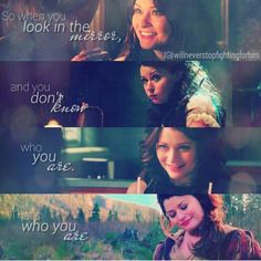 """Once Upon A Time Rumbelle moment<3 """"So when you look in the mirror, and you don't know who you are, THAT'S who you are."""""""
