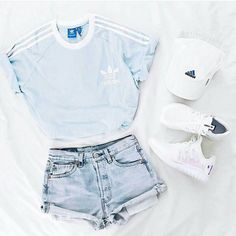 super sweet baby blue adidas
