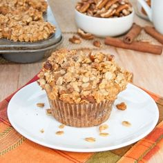 Pumpkin Cinnamon Streusel Muffins {Sweet Pea's Kitchen}