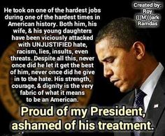 "He will remain for all eternity one of the ""Classiest"" Presidents!! <3<3<3"