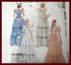 BRIDAL Gown with Detachable Train by VintagePatternsDepot on Etsy
