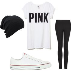 This outfit is cute but needs jewelry. Maybe some bangles? Or long necklace :)