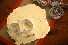 Helvetica cookie cutters = WANT >>by Beverly Hsu