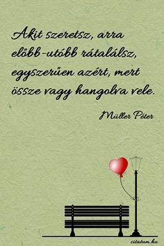 Müller Péter idézete az összehangolódásról.