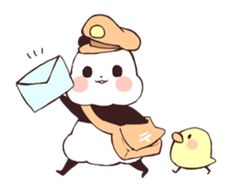 Find images and videos about kawaii, bird and transparent on We Heart It - the app to get lost in what you love. Panda Lindo, Baby Hamster, Cute Cat Wallpaper, Line Store, Cute Panda, Line Sticker, Pikachu, The Creator, Bear