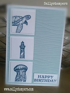 As it's been raining..... From Land to Sea. Independent Stampin' Up!® Demonstrator UK.