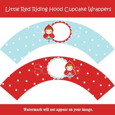 Little Red Riding HoodCupcake Wrappers