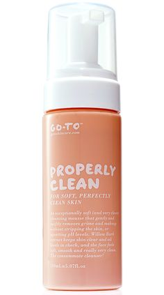 Facial cleanser for soft clean skin - Go-To Properly Clean