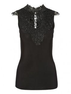 Brocade Trim Top | Clothing | Jane Norman