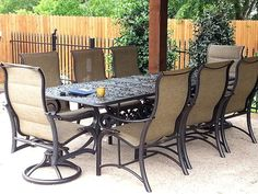 chateau dining table and st augustine dining chairs enjoy your outdoor room yard art patio u0026 fireplace enjoy your outdoor room pinterest