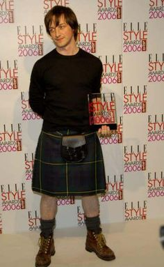 James McAvoy in a kilt. #StAndrewsDay #meninkilts