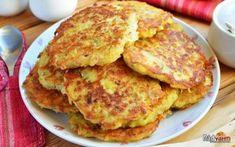 Potato pancakes with ham and cheese.- Potato pancakes with ham and cheese. Cheese Potatoes, Potato Pancakes, Tasty, Yummy Food, Ham And Cheese, Chicken Recipes, Vegetables, Breakfast, Money
