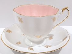Pink Princess Anne Tea Cup and Saucer, English Bone China Cup, Bridal Shower Gift, Gift for Her, Pink Cups, Antique Tea Cups, Vintage Tea by AprilsLuxuries on Etsy