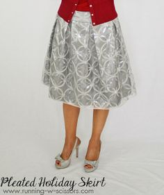 Running With Scissors: Holiday Pleated Skirt  silver skirt