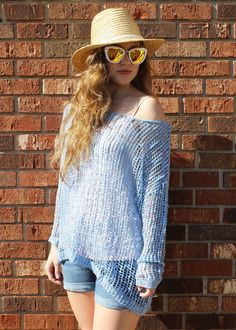 Boxy Knit Boat Neck Top