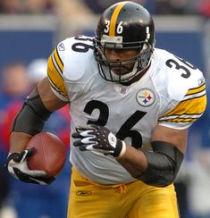 Jerome Bettis - Pittsburgh Steelers - Welcome to Detroit Sports Frenzy! Stats, History, Stories and Pittsburgh Steelers Merchandise, Pittsburgh Steelers Football, Pittsburgh Sports, College Football, Dallas Cowboys, American Football League, National Football League, Jerome Bettis, Sporting Kansas City