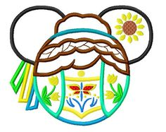 Character Cold Queen Fever Anna Embroidery Applique Design