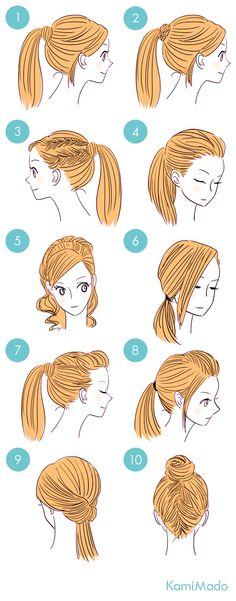 10 Hair Style Variations with Ponytails.