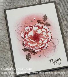 Sentimental Rose (April 2019 Paper Pumpkin) ~ by Lynn Dunn Punch Art Cards, Stampin Up Paper Pumpkin, Pumpkin Cards, Stamping Up Cards, Flower Cards, Homemade Cards, Birthday Cards, Birthday Ideas, Card Making