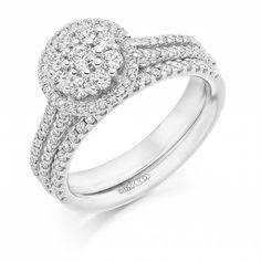Lovely set #engagementring #weddingring