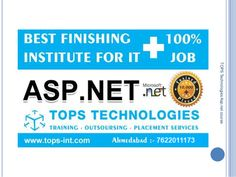 http://www.tops-int.com/aspnet-training-ahmedabad/ - Get ASP.Net Training in Ahmedabad with 100% Job Placement from TOPS Technologies, India's Leading IT Company & Training Institute. It also provide project training in asp.net. For more information please contact us at inquiry@tops-int.com or Call us at 7622011173.   #aspdotnet #aspdotnettraining #aspdotnettraininginahmedabad #aspdotnettraininginstituteinahmedabad #aspdotnettrainingcenterinahmedabad #ITtraining #computertraining