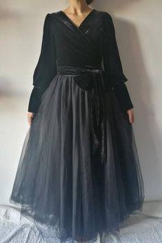 Gonna matrimonio donna in tulle  gonna elegante nera  gonna
