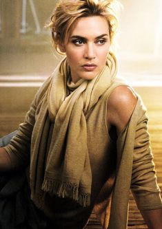 Kate: Neutral fall layering. Glamourous and feminine…