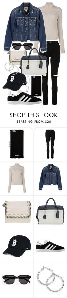 """""""Untitled #22234"""" by florencia95 ❤ liked on Polyvore featuring Givenchy, Rick Owens, Paige Denim, STELLA McCARTNEY, Prada, '47 Brand, adidas and Yves Saint Laurent"""