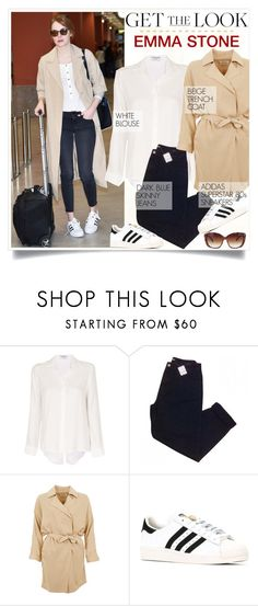 """GET THE LOOK: Emma Stone."" by fairouze ❤ liked on Polyvore featuring Frame, Urban Outfitters, American Vintage and adidas"
