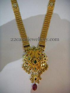 Jewellery Designs: Rich Antique Long Chain