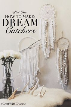 Dream catchers are a perfect way to tie in that bohemian look into any space.  This tutorial from the blog Charm Silkiner is a great way to make a set of these beautiful hoops for your own home.  M…