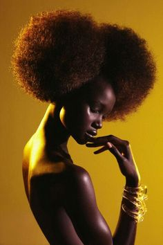 Afro yellow tones