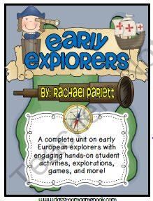Early European Explorers: The Age Of Exploration {A Social Studies Unit} product from Rachael-Parlett on TeachersNotebook.com