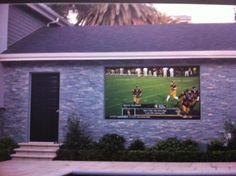 Using Stewart Starglas 60 to create a weatherproof outdoor TV/Theater.