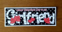 Happy Valentines Day to my Girlfriend Card by TheBlenheimCardCo