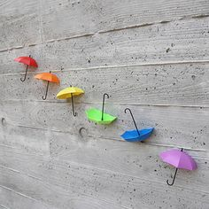 Wall Hook Key Spectacles Hanger Umbrella Pattern Colour Stick Easy Funny Cute #Unbranded