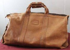 Leather duffle bag  $116