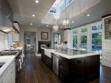 Love this open kitchen.