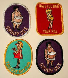 4 Vintage Campy Sexy Funny Birth Control Pill Patch New NOS 1970s slogan