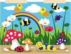 Features:  -Distinctive and brightly colored.  -Includes 5 free soft toys.  -Nylon wall display with wooden brackets.  -Highly visual themed interactive wall display hangings to brighten up any pre-sc                                                                                                                                                      More