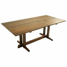 Designed by George Nakashima. I love the modern style combined with the natural wood. Modern Dining Room Tables, Modern Table, Dining Table, Table Furniture, Furniture Design, Before After Furniture, Drawing Furniture, George Nakashima, Wood Table