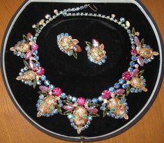 HUGE Juliana Easter Egg BIB Necklace and Earrings Set