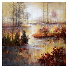Have to have it. Yosemite Home Décor Autumn River - 39.5W x 39.5H in. - $219.99 @hayneedle